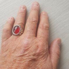 Handmade 925K Sterling Silver Mens Ring With Howlite | Etsy Aquamarine Stone, Garnet Stone, Amber Stone, Jade Stone, Jewelry Stores Near Me, Sterling Silver Mens Rings, Jade Ring, Silver Man, Turquoise Stone