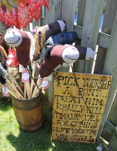 Pony favors at a Country-Western Birthday Party!  See more party ideas at CatchMyParty.com!