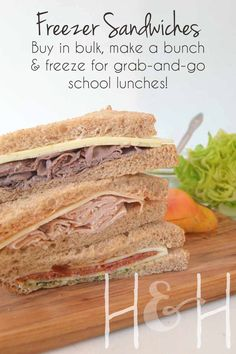 For a busy, busy mom who constantly has my hands full, this has been a super convenient way to tackle lunches: make them in bulk ahead of time and freeze!