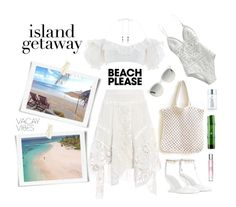 """""""Vacay Outfit: WHITE!"""" by nova5ta5ia ❤ liked on Polyvore featuring Zimmermann, Chloé, The Beach People, Ray-Ban, Kate Somerville, TONYMOLY, Versace, BeachPlease and vacayoutfit"""