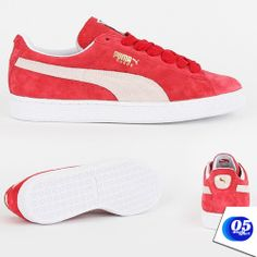 PUMA SUEDE CLASSIC TRAINERS - RED - BRAND NEW IN BOX  trainers  classic   fbe69a192
