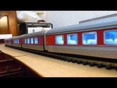 Talgo III RD Ibertren luces LED en vagones de pasajeros - YouTube