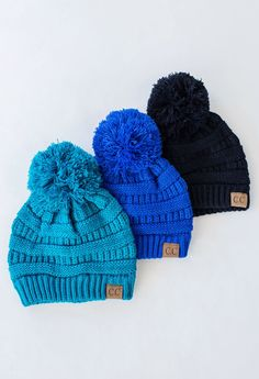 2ae85384 C.C. Beanies are a best seller and these Pom beanies are sure to be a  customer