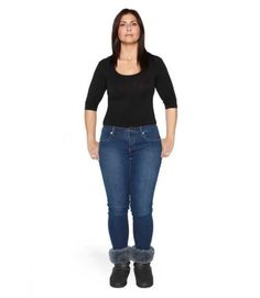 """I'm frustrated by my pear shape — if jeans are roomy enough for my hips, the waist is too big"" Before: Too tight, too tapered — and tucked into chunky, clunky boots."
