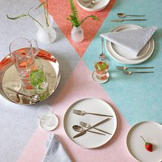 Squiggles Colorblock Tablecloth 60x108