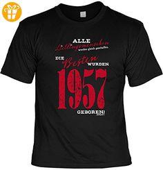 Geburtstags T-Shirt Jahrgang 1957 Jubiläumsshirt Herren Unisex Geschenk Alle Lieblingsmenschen werden gleich geschaffen... - Shirts zum 50 geburtstag (*Partner-Link)