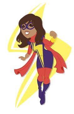 Retro Heroes / Kamala Khan aka Ms. Marvel by Christian CG Tomas