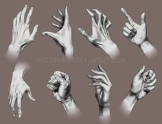A study in hands 2 by Spectrum-VII Deviant Art