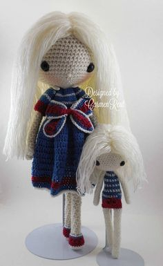 July 17 and her little doll 8 Amigurumi Doll Crochet Doll Clothes, Knitted Dolls, Plush Dolls, Amigurumi Doll, Crochet Dolls, Crochet Yarn, Diy Crochet Patterns, Crochet Doll Pattern, Doll Patterns