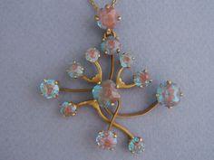 Vintage Saphiret  Pendant & Chain