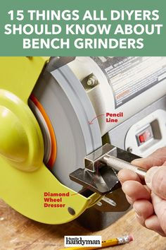 15 Things All DIYers Should Know About Bench Grinders - 15 Things All DIYers Should Know About Bench Grinders Imágenes efectivas que le proporcionamos sobr - Woodworking Projects Diy, Woodworking Techniques, Woodworking Shop, Garage Tool Storage, Garage Tools, Workshop Layout, Garage Workshop, Bench Grinder, Belt Grinder Plans