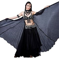 Dance Fairy Black Belly Dance Isis big Wings Special Halloween Gift