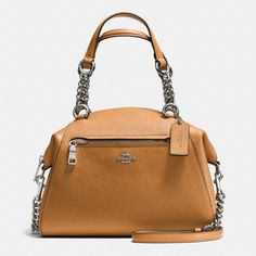 Shop The COACH Chain Prairie Satchel In Polished Pebble Leather. Enjoy Complimentary Shipping