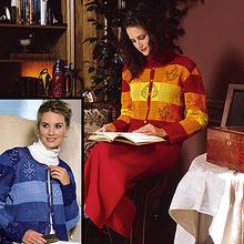 Autumn & Winter Filet Cardigans Thread Crochet Patterns