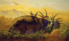Styracosaurus (1995) by Kazuhiko Sano super legit. Real styracosaurus were known to be hella goofy and good natured.