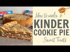 Ben jij dol op Kinderchocolade en koekjes? Dan is deze taart de perfecte combinatie voor jou. Hij is heerlijk smeuïg van binnen en knapperig vanbuiten. Cookie Dough Pie, Food Videos, Banana Bread, Sweet Treats, Yummy Food, Cookies, Breakfast, Cake, Desserts