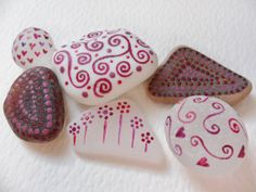 Purple doodles  Hand painted miniature art on by Alienstoatdesigns, $15.00