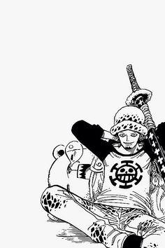 Trafalgar Law and Bepo One Piece Comic, One Piece Fanart, One Piece Manga, Anime D, Trafalgar Law, Monkey D Luffy, Nico Robin, Anime Shows, New Words
