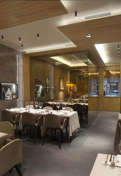 Sanchez Guisado Arquitectos Restaurante la Taverna del Clínic - Sanchez Guisado Arquitectos - Iluminación restaurante