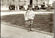 Seven-year-old Ferris, Tiny newsie who did not know enough to make change for the investigator, Mobile, Alabama, 1914, by Lewis Wickes Hine