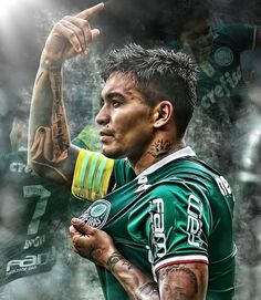 Dudu # Palmeiras 17 Family Name Tattoos, Baby Name Tattoos, Parent Tattoos, Foto 3d, Marvel Dc Comics, Neymar, Social Platform, Fifa, Palm Trees