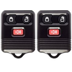 Keyless Entry Remote Control Clicker for Ford (Pack of 2) with Shell, Chip, Battery - 3 Button - Alarm, Lock, and Unlock Key Fob Transmitter. For product info go to:  https://www.caraccessoriesonlinemarket.com/keyless-entry-remote-control-clicker-for-ford-pack-of-2-with-shell-chip-battery-3-button-alarm-lock-and-unlock-key-fob-transmitter/