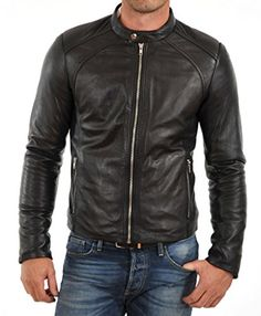SkinOutfit Men's Moto Leather Jacket Mj 184 Small Black SkinOutfit http://www.amazon.com/dp/B00VUTNVI8/ref=cm_sw_r_pi_dp_BE8Gwb1AY9RGV