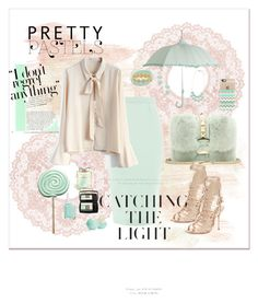 """""""Catching the Light"""" by neesyrn ❤ liked on Polyvore featuring Valentino, Roland Mouret, Chicwish, Sophia Webster, Essie, Chanel, Lancôme, Eos, BillyTheTree and Casetify"""