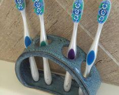 Cepillo de dientes pasta de dientes titular por BTRceramics