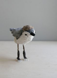 little bird / soft sculpture animal. $89.00, via Etsy.