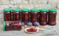 Mason Jar Wine Glass, Dried Fruit, Deserts, Tableware, Food, Canning, Syrup, Dinnerware, Tablewares