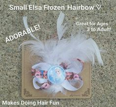 Disney Frozen Elsa Hairbow with White Feathers, Makes a Great Gift! in Clothing, Shoes & Accessories, Baby & Toddler Clothing, Girls' Clothing (Newborn-5T) | eBay