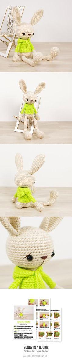 Bunny In A Hoodie Amigurumi Pattern