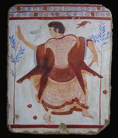ETRUSCAN FRESCOE AT TARQUINIA C.500BC  Dancer