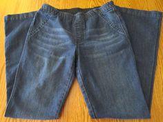 Chicos Platinum Denim Jeggings Boot Cut Leggings Size 0 Size 4 Elastic Waist #Chicos #Leggings
