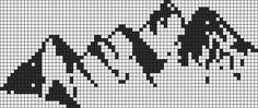 Alpha friendship bracelet pattern added by WhaleEv. Alpha Patterns, Loom Patterns, Beading Patterns, Tree Patterns, Cross Stitching, Cross Stitch Embroidery, Cross Stitch Patterns, Crochet Table Topper, Knitting Charts