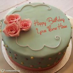 Create Pretty Roses Birthday Cake Maker With Name Photo On Best Online Generator Editing Options And Send Happy Wishes