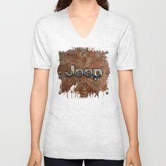 Rustic Jeep UNISEX V-NECK T-SHIRT #vneck #tshirt #tee #clothing #rustic #jeep #steampunk #logo #typograph #wrangler #landrover #car #abstract #volkswagen #vehicle #autocar #suv #offroad #rangerover #4x4