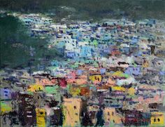 JUING IN SUNG 10 P OIL ON CANVAS  감천 문화마을