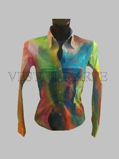 HAND PAINTED WOMAN SHIRT Long sleeve shirts cool shirts xxs size personalized shirts for wedding party shirt for gifts unique shirts fancy dress for womens dresses by Vestitidarte on Etsy