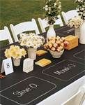 chalkboard tablecloth - Bing Images