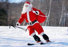 Skiing Santa.
