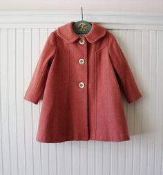 Colette Coat in Paris Pink van littlegoodall op Etsy