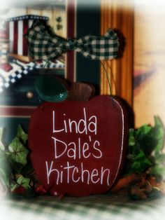 Apple Personalized Kitchen Apples Sign Decor Wall Home Interior