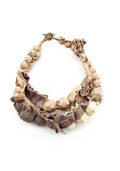 textiles mixed media neklace - contemporary jewellery designs // Adam Grinovich