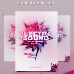 Electro Party Flyer on Behance