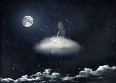 Ten derde heb ik mezelf uitgeknipt en achter de wolk geplakt.