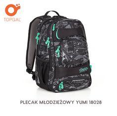 Plecak Topgal z dwiema komorami, dla uczniów klasy 6-8 szkoły podstawowej i szkoły średniej