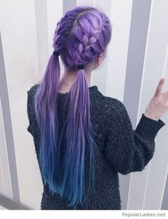 Amazing purple braids