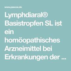 Lymphdiaral® Basistropfen SL ist ein homöopathisches Arzneimittel bei Erkrankungen der Atemorgane, insbesondere mit Beteiligung des lokalen Lymphsystems.